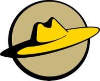 διαθέσιμο διάνυσμα αχύρου σομπρέρο καπέλων μεξικάνικο Στοκ Εικόνα