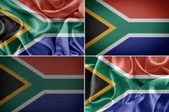 διαθέσιμο διάνυσμα νότιου ύφους γυαλιού σημαιών της Αφρικής Στοκ Φωτογραφία