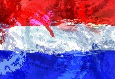 διαθέσιμο διάνυσμα ολλανδικού ύφους γυαλιού σημαιών Ολλανδικό εθνικό σύμβολο φυλακτών Ευρώπη βόρεια Σχέδιο αναμνηστικών χώρας Στοκ φωτογραφίες με δικαίωμα ελεύθερης χρήσης