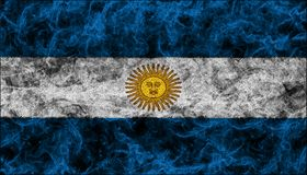 διαθέσιμο διάνυσμα ύφους γυαλιού σημαιών της Αργεντινής Στοκ εικόνες με δικαίωμα ελεύθερης χρήσης