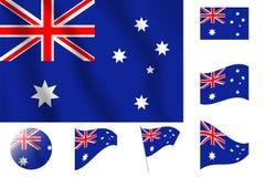 διαθέσιμο διάνυσμα ύφους γυαλιού σημαιών της Αυστραλίας Ρεαλιστική διανυσματική σημαία απεικόνισης Εθνικό sym Στοκ φωτογραφία με δικαίωμα ελεύθερης χρήσης