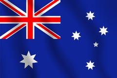 διαθέσιμο διάνυσμα ύφους γυαλιού σημαιών της Αυστραλίας Ρεαλιστική διανυσματική σημαία απεικόνισης Εθνικό sym Στοκ φωτογραφίες με δικαίωμα ελεύθερης χρήσης