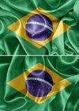 διαθέσιμο διάνυσμα ύφους γυαλιού σημαιών της Βραζιλίας Στοκ Φωτογραφία