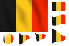 διαθέσιμο διάνυσμα ύφους γυαλιού σημαιών του Βελγίου Ρεαλιστική διανυσματική σημαία απεικόνισης Εθνικό symbo Στοκ φωτογραφία με δικαίωμα ελεύθερης χρήσης
