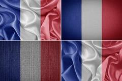 διαθέσιμο διάνυσμα ύφους γυαλιού της Γαλλίας σημαιών Στοκ φωτογραφίες με δικαίωμα ελεύθερης χρήσης