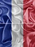 διαθέσιμο διάνυσμα ύφους γυαλιού της Γαλλίας σημαιών Στοκ Εικόνες