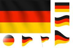 διαθέσιμο διάνυσμα ύφους γυαλιού της Γερμανίας σημαιών Ρεαλιστική διανυσματική σημαία απεικόνισης Εθνικό symbo Στοκ Φωτογραφίες