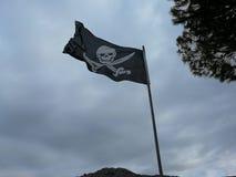 διαθέσιμο διάνυσμα ύφους πειρατών γυαλιού σημαιών Στοκ Εικόνες