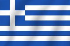 διαθέσιμο διάνυσμα ύφους της Ελλάδας γυαλιού σημαιών Ρεαλιστική διανυσματική σημαία απεικόνισης Εθνικό σύμβολο Στοκ Φωτογραφία