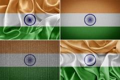 διαθέσιμο διάνυσμα ύφους της Ινδίας γυαλιού σημαιών Στοκ Εικόνες