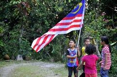 διαθέσιμο διάνυσμα ύφους της Μαλαισίας γυαλιού σημαιών Στοκ φωτογραφίες με δικαίωμα ελεύθερης χρήσης