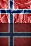 διαθέσιμο διάνυσμα ύφους της Νορβηγίας γυαλιού σημαιών Στοκ Εικόνες