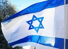 διαθέσιμο διάνυσμα ύφους του Ισραήλ γυαλιού σημαιών Άσπρα και μπλε χρώματα Στοκ φωτογραφία με δικαίωμα ελεύθερης χρήσης