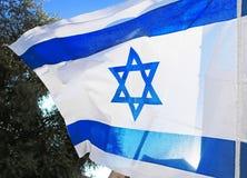 διαθέσιμο διάνυσμα ύφους του Ισραήλ γυαλιού σημαιών Άσπρα και μπλε χρώματα Στοκ Εικόνα