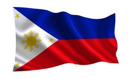 διαθέσιμο διάνυσμα ύφους των Φιλιππινών γυαλιού σημαιών Μια σειρά σημαιών ` του κόσμου ` Η χώρα - σημαία των Φιλιππινών Στοκ φωτογραφία με δικαίωμα ελεύθερης χρήσης