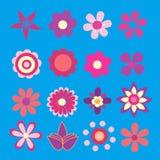 διαθέσιμο μπλε eps λουλουδιών μορφής πράσινο διάνυσμα παραλλαγών άνοιξη απεικόνισης ρόδινο κίτρινο Στοκ Εικόνα