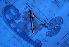 Διαιρέτης στο σχέδιο σχεδίων στοκ φωτογραφίες με δικαίωμα ελεύθερης χρήσης