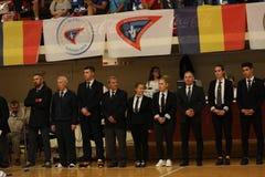 Διαιτητές στο ρουμανικό πρωτάθλημα, νεώτεροι, το Μάιο του 2018 στοκ εικόνα με δικαίωμα ελεύθερης χρήσης