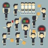 Διαιτητής ποδοσφαίρου διανυσματική απεικόνιση