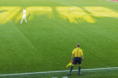 Διαιτητής ποδοσφαίρου Στοκ φωτογραφίες με δικαίωμα ελεύθερης χρήσης