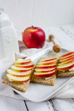 Διαιτητικό ξηρό ψωμί, Apple και μέλι Στοκ φωτογραφίες με δικαίωμα ελεύθερης χρήσης