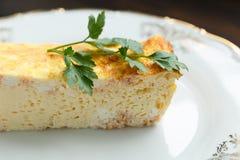 Διαιτητικό casserole τυριών Στοκ εικόνα με δικαίωμα ελεύθερης χρήσης