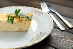 Διαιτητικό casserole τυριών Στοκ Εικόνα