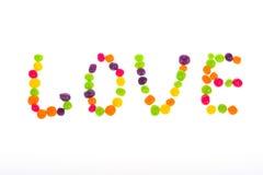 Διακήρυξη της αγάπης των γλυκών για την ημέρα βαλεντίνων ` s Στοκ Φωτογραφίες