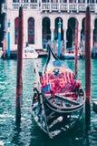 Διακινούμενη έννοια γονδολών της Ιταλίας Βενετία όμορφη Στοκ Εικόνες