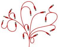 διακλαδιμένος φυτά δικτύων μορφής καλωδίων απεικόνιση αποθεμάτων