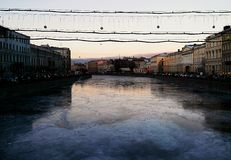 Διακοπές Άγιος-Πετρούπολη στοκ εικόνες με δικαίωμα ελεύθερης χρήσης
