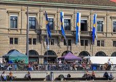 Διακοπές άνοιξη στην πόλη της Ζυρίχης, Ελβετία Στοκ φωτογραφία με δικαίωμα ελεύθερης χρήσης