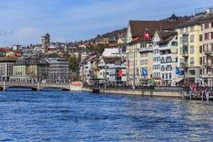 Διακοπές άνοιξη στην πόλη της Ζυρίχης, Ελβετία Στοκ Εικόνες