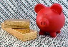 διακοπές δώρων piggy Στοκ φωτογραφία με δικαίωμα ελεύθερης χρήσης