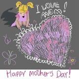 Διακοπές ημέρας μητέρων Indernational Στοκ Εικόνα