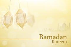 Διακοπές θρησκείας υποβάθρου Ramadan kareem Στοκ Φωτογραφίες