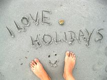 διακοπές ι αγάπη Στοκ φωτογραφία με δικαίωμα ελεύθερης χρήσης