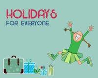 Διακοπές και διανυσματική απεικόνιση ευχετήριων καρτών Στοκ φωτογραφία με δικαίωμα ελεύθερης χρήσης