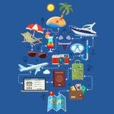 Διακοπές και τουρισμός Infographics Στοκ εικόνες με δικαίωμα ελεύθερης χρήσης
