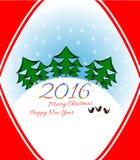 Διακοπές καρτών Χριστουγέννων διανυσματική απεικόνιση