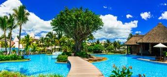 Διακοπές πολυτέλειας στον τροπικό παράδεισο - νησί του Μαυρίκιου στοκ εικόνα με δικαίωμα ελεύθερης χρήσης