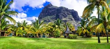 Διακοπές πολυτέλειας στο νησί Mauriius στοκ εικόνες