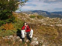 Διακοπές στα βουνά Στοκ Εικόνες