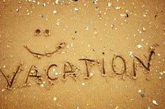 Διακοπές στην άμμο Στοκ Εικόνες
