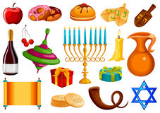 Διακοπές του Ισραήλ για το φεστιβάλ του ελαφριού ευτυχούς υποβάθρου εορτασμού Hanukkah Στοκ Φωτογραφίες