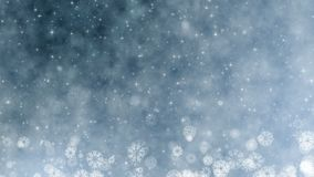 Διακοπές Χριστουγέννων που χαιρετούν την τηλεοπτική κάρτα Χειμώνας με snowflakes, τα αστέρια και το χιόνι Άνευ ραφής υπόβαθρο έτο απόθεμα βίντεο