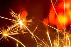 Διακοπές sparkler Στοκ φωτογραφία με δικαίωμα ελεύθερης χρήσης