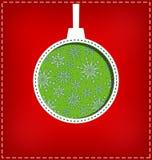Διακοπή σφαιρών Χριστουγέννων στο κόκκινο απεικόνιση αποθεμάτων