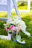 Διακοσμήσεις γαμήλιων λουλουδιών στοκ εικόνες