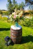 Διακοσμήσεις γαμήλιων λουλουδιών στοκ εικόνα